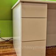 biurko z szufladami, MDF lakierowany