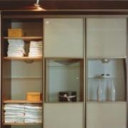 drzwi przesuwne łączone, lacobel i szkło