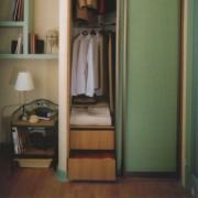 dwudrzwiowa szafa z drzwiami przesuwnymi, szuflady