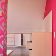 szafki do łazienki z białego MDF'u, drzwi otwierane na zawiasach