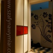szafa wnękowa, drzwi przesuwne łączone, płyta i lecobel