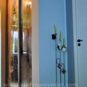 szafa wnękowa, drzwi z fototapetą