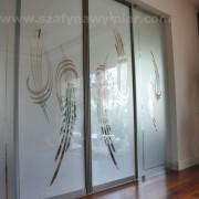 drzwi do pokoju, przesuwne, piaskowane szkło