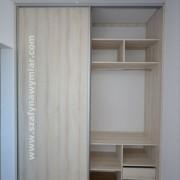 szafa wnękowa, półki, szuflady drążki