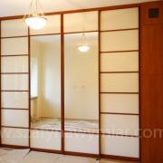szafa wnękowa, drzwi przesuwne z lustra, lacobelu, na zawiasach z płyty