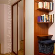 szafa do salonu, drzwi przesuwne, zaokrąglone półki