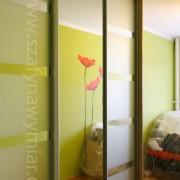 szafa z drzwiami przesuwnymi z piaskowanym lustrem