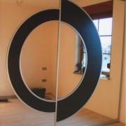 drzwi łączone we wzór, lustro z lacobelem