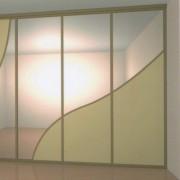 drzwi przesuwne łączone po łuki z płyty i lustra