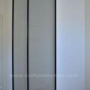 szafa do sypialni, drzwi przesuwne z białego lacobelu